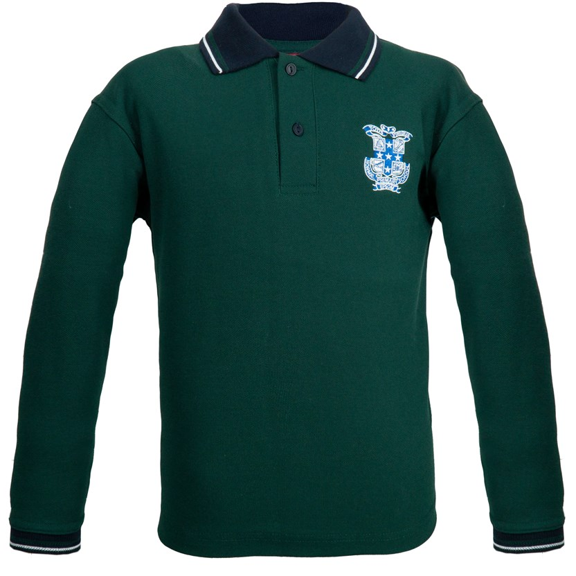 Long Sleeve Polo Shirt (size 6-M)