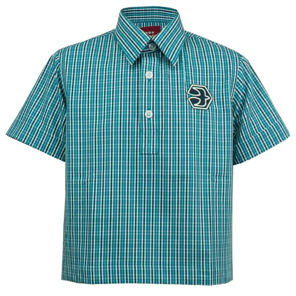 Unisex Short Sleeve Check Shirt